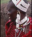 Maasai lady wearing the jewelry she created